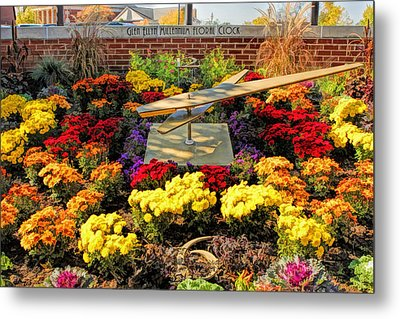 Metal Print featuring the painting Glen Ellyn Millennium Flower Clock by Christopher Arndt