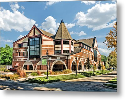 Metal Print featuring the painting Glen Ellyn Public Library by Christopher Arndt