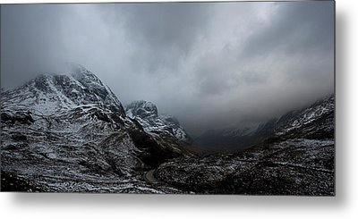 Metal Print featuring the digital art Glencoe - Three Sisters by Pat Speirs