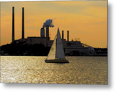 Gliding Down The Patapsco Metal Print