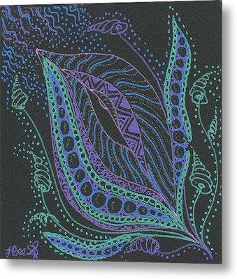 Glitter Flower Metal Print