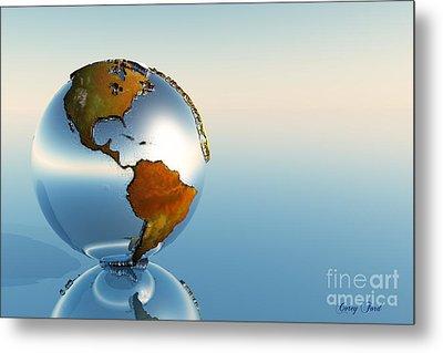 Globe Metal Print by Corey Ford