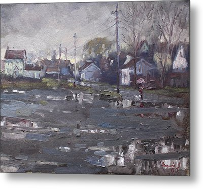 Gloomy And Rainy Day By Hyde Park Metal Print