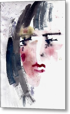 Gloomy Woman  Metal Print by Faruk Koksal