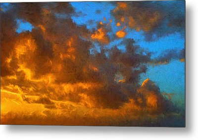 Glorious Clouds Metal Print by Dave Bosse