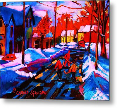 Glorious Day For A Game Metal Print by Carole Spandau