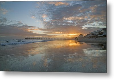 Glorious Sunset Island  Metal Print by Betsy Knapp