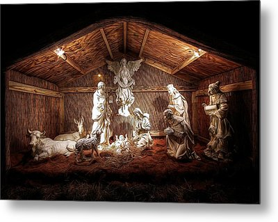 Glory To The Newborn King Metal Print by Shelley Neff