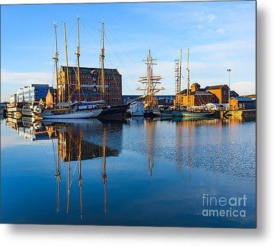 Metal Print featuring the photograph Gloucester Docks by Colin Rayner