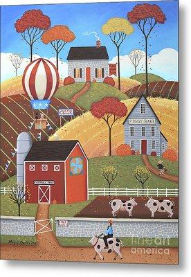 Gloucestershire Village Metal Print