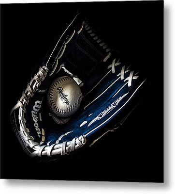 Glove And Ball Metal Print by Martin Newman