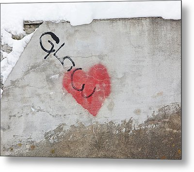 Metal Print featuring the photograph Glow Heart by Art Block Collections