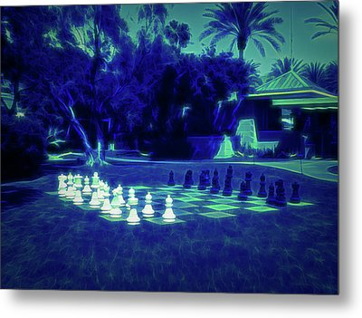 Metal Print featuring the photograph Glow In The Dark Chess At The Biltmore by Aimee L Maher Photography and Art Visit ALMGallerydotcom