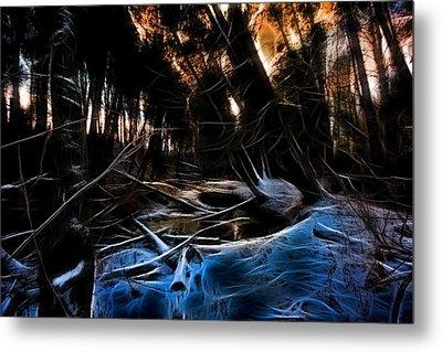 Glow River Metal Print