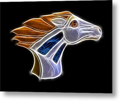 Glowing Bronco Metal Print by Shane Bechler