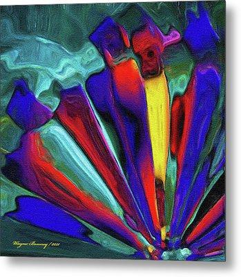 Glowing Chrystals Metal Print by Wayne Bonney