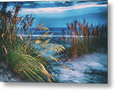 Metal Print featuring the photograph Glowing Dunes Before Sunrise On The Outer Banks by Dan Carmichael