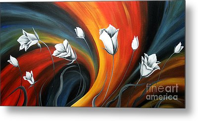 Glowing Flowers 5 Metal Print by Uma Devi