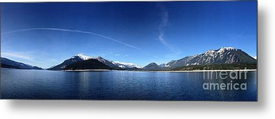 Metal Print featuring the photograph Glowing In The Blue by Victor K