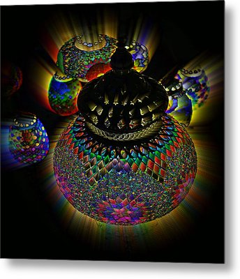 Glowing Lanterns Metal Print by Digital Art Cafe