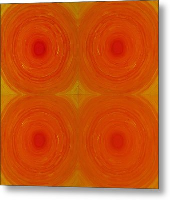 Glowing Orange Metal Print