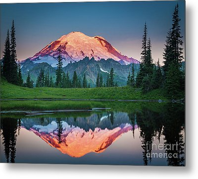 Glowing Peak - August Metal Print