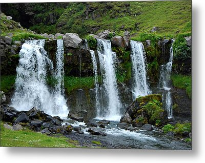Metal Print featuring the photograph Gluggafoss II by Marilynne Bull