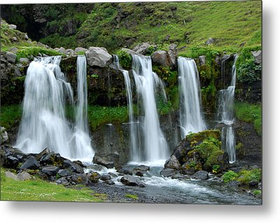 Metal Print featuring the photograph Gluggafoss by Marilynne Bull