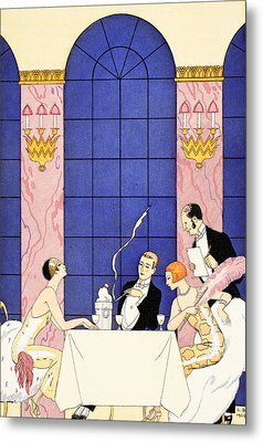 Gluttony Metal Print by Georges Barbier