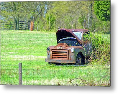 Metal Print featuring the photograph Gmc Retired by Larry Bishop