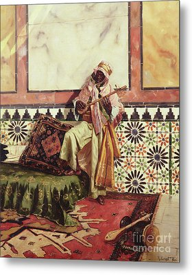 Gnaoua In A North African Interior Metal Print