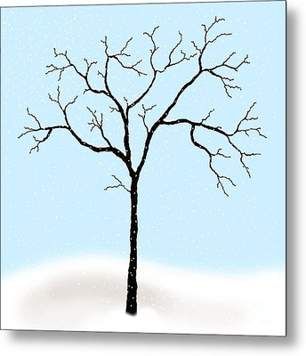 Gnarled In Winter Metal Print