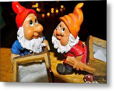 Gnome Friends Metal Print by Brynn Ditsche