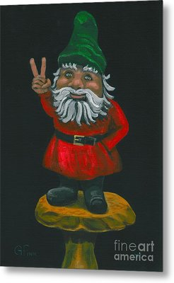 Gnome Of Peace Metal Print