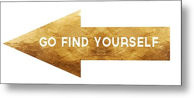 Go Find Yourself- Art By Linda Woods Metal Print