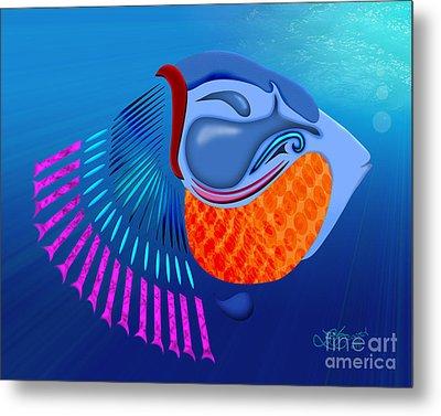 Go Fish Metal Print by Linda Seacord