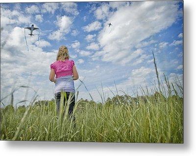 Go Fly A Kite Metal Print by Steve Shockley