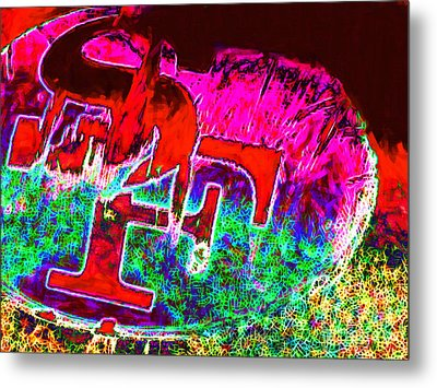 Go Niners 20130115 Metal Print by Wingsdomain Art and Photography