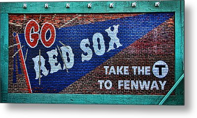 Go Red Sox Metal Print by Stephen Stookey