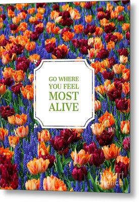 Go Where You Feel Most Alive Poster Metal Print
