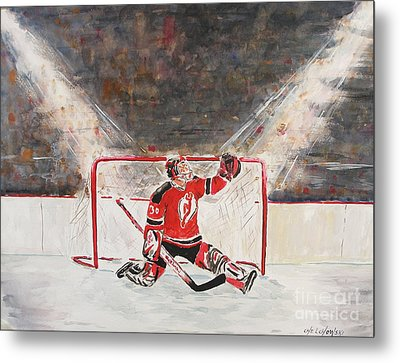 Goalkeeper Metal Print by Miroslaw  Chelchowski