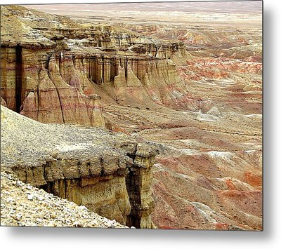 Gobi Desert White Cliffs Metal Print by Diane Height