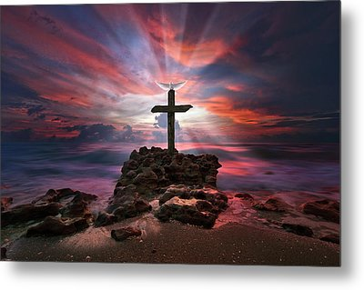 God Is My Rock Special Edition Fine Art Metal Print