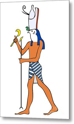 God Of Ancient Egypt - Horus Metal Print by Michal Boubin