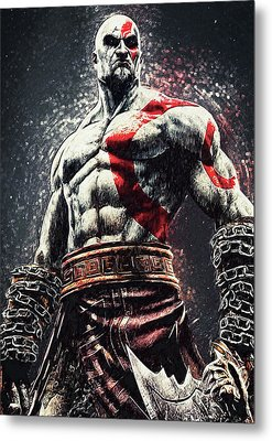 Metal Print featuring the digital art God Of War - Kratos by Taylan Apukovska