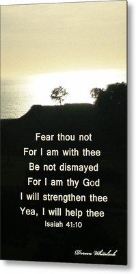 God Will Help You Metal Print by Doreen Whitelock
