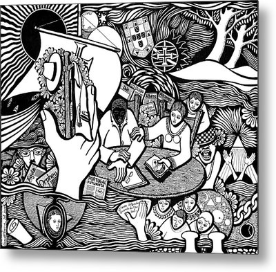 God Wills Man Dreams The Work Is Born Metal Print by Jose Alberto Gomes Pereira