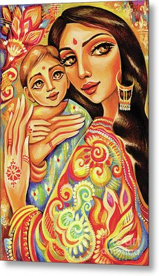 Goddess Blessing Metal Print