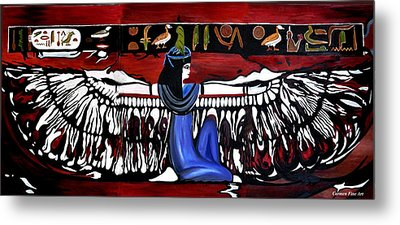 Metal Print featuring the painting Goddess by Carmen Fine Art