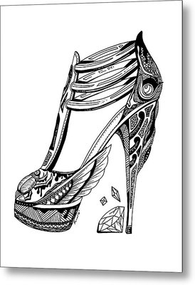 Goddess Isis High Heel Metal Print by Kenal Louis